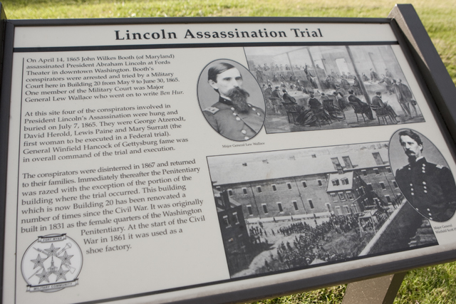 Lincoln Assassination Trial sign