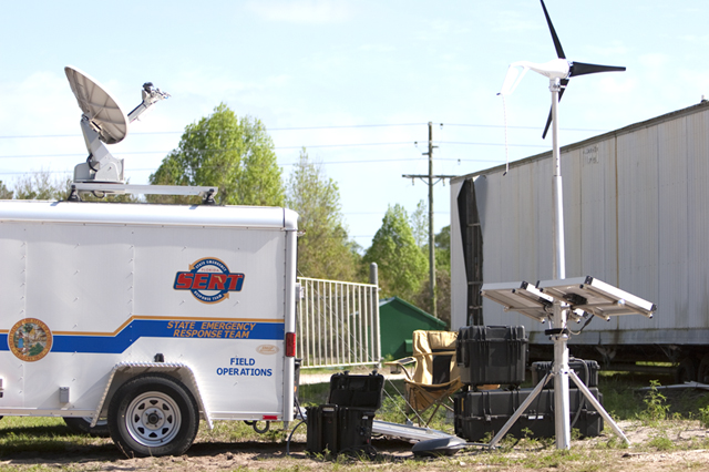 Iron Horse Fire in Oak Hill, FL with Solar Stik providing power to Florida.